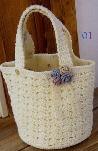 3e8781bf5715 Крючком сумка женская. Как связать сумку крючком схемы: шесть ...