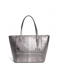 DELANEY PYTHON-EMBOSSED TOTE