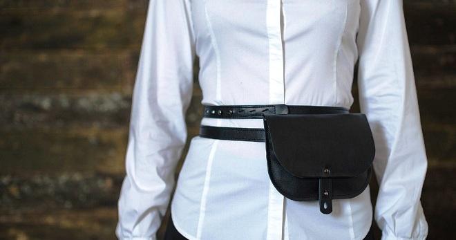 9e41e5ef10fb90 Женская поясная сумка. Сумка на пояс – какие бывают и с чем носить ...