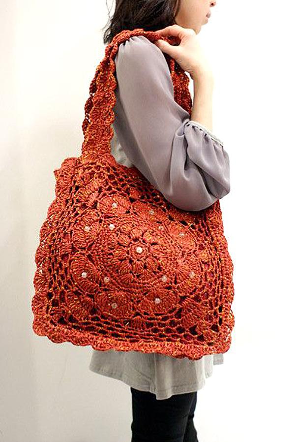96f3c03a0060 Вязаные женские сумки. Вязаные сумки: богатство фантазии дизайнеров